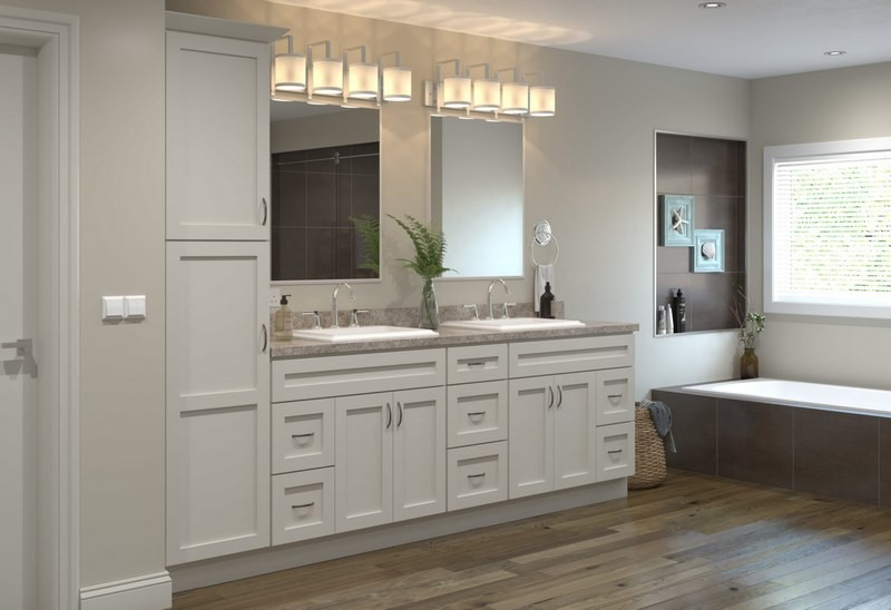 کابینت دستشویی سفید