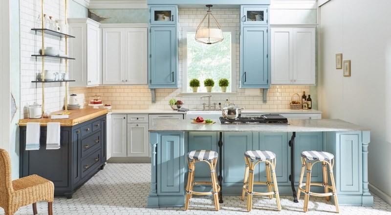 کابینت آشپزخانه آبی