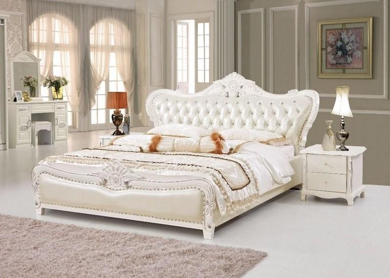 عکس تخت دو نفره سفید