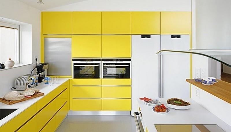 تصویر کابینت زرد