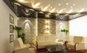 تصویر نور پردازی سقف خانه