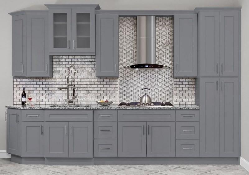 تصویر کابینت آشپزخانه طوسی