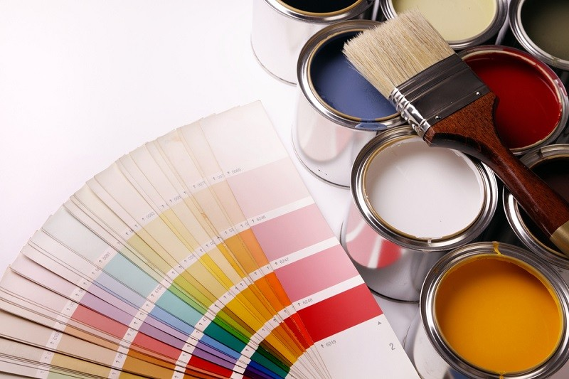 تصویر پالت رنگهای کاغذ دیواری