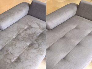 تصویر قبل و بعد تمیزی مبل